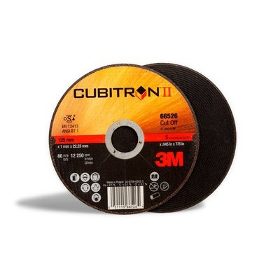 3M™ Cubitron™ II Отрезной Круг Т41 Ø230 mm , 230 мм х 2,0 мм х 22,23 мм, A 36 S BF, 25 шт/уп, № 65463