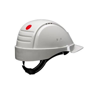 Каска защитная 3M™ PELTOR™ G2001CUV-VI без вентиляции с платиковым оголовьем, цвет белый