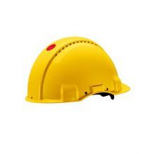 Каска защитная 3M™ G3000NUV-GU c вентиляцией, с храповиком, цвет желтый