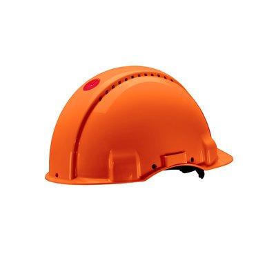 Каска защитная 3M™ G3000CUV-OR c вентиляцией, цвет оранжевый