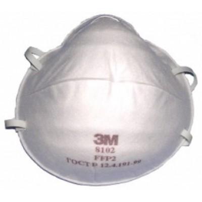 8102 - фильтрующая полумаска для защиты от аэрозолей 2-й степени защиты без клапана.